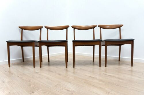 Set of 4 Mid Century Vintage Teak Greaves & Thomas Dining Chairs 1960's /1305