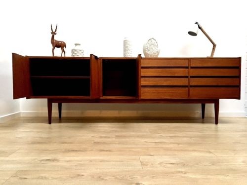 Danish Teak Credenza For Sale : Superb mid century vintage danish teak large sideboard credenza