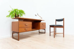 Mid Century Vintage Teak G Plan E Gomme Desk 1960's & McIntosh Chair /1247