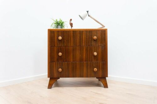 Stylish Mid Century Vintage Teak Chest Of 3 Drawers 1960's /1068