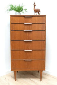Midcentury Austinsuite Vintage Teak Tallboy Chest of Drawers /1578