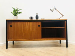 Stylish Mid Century Vintage Habitat Teak Sideboard T V Media Storage Unit /755