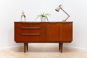 Rare Mid Century Vintage Teak Zebrano Small Sideboard TV Media Unit 1960's