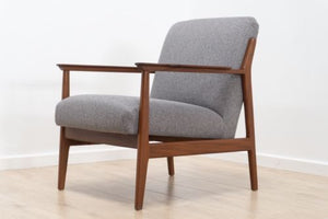 Superb Mid Century Danish Vintage Teak Armchair Lounge Chair 1950's