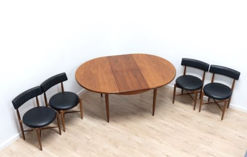 Mid Century Vintage Teak G Plan Fresco Dining Table & 6 Kofod Larsen Chairs /310