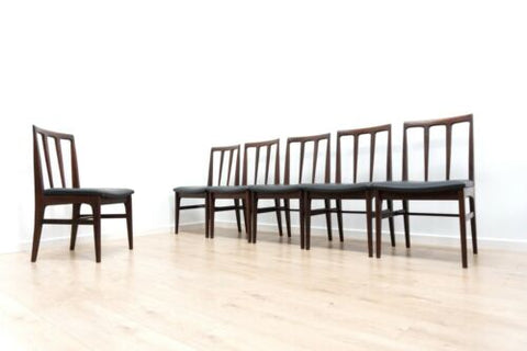 Midcentury Vintage Teak Dining Chairs By Younger Set of 6 /1446
