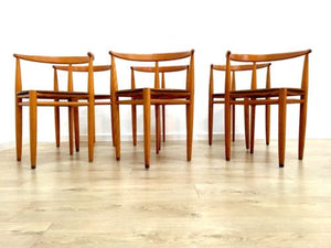 Mid Century Lilla Carmen Stacking Chairs By Jack Range For Gemla Sweden Set 6