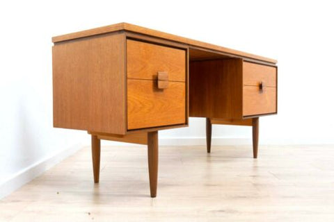 Mid Century Kofod Larsen Danish G Plan Vintage Teak Dressing Table & Stool /1181