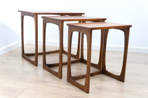 Mid Century Vintage Teak Quadrille G Plan era Nest of Tables /375