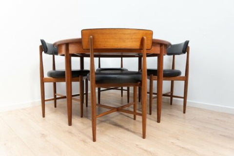 Midcentury G Plan Vintage Teak Fresco Dining Table & 4 Dining Chairs /1617