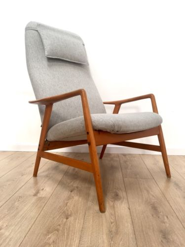 Mid Century Vintage Danish Alf Svensson For Dux Armchair Lounge Chair And Stool