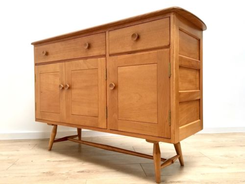 Superb Vintage Ercol Blonde Elm Windsor Sideboard 1960's
