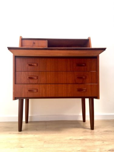 Stunning Mid Century Vintage Danish Teak Bureau Desk Chest Of Drawers