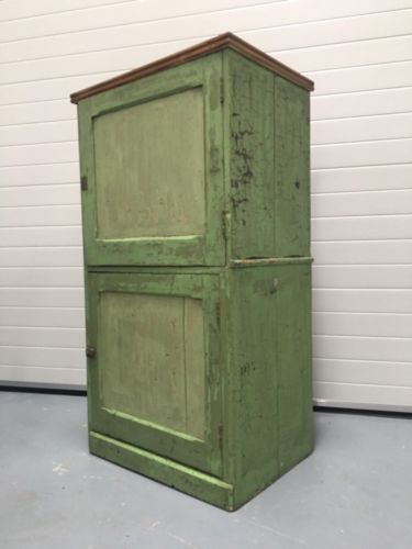 Vintage French Distressed Rustic Linen Cupboard Larder Multi Storage Dresser