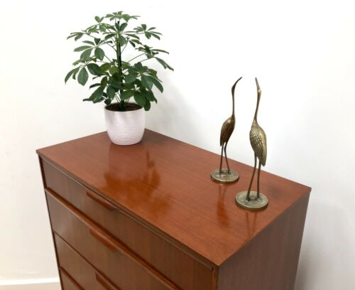 Stunning Mid Century Austinsuite Vintage Teak Chest Of Drawers / 749