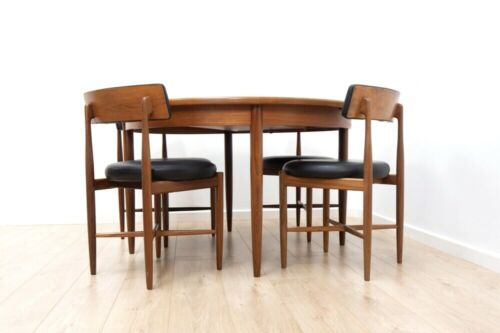 Mid Century Vintage G Plan Teak Dining Table & 4 Kofod Larsen Design Chairs /901