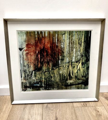 Original Danish Mid Century Abstract Framed Signed Arne R Paris 1970