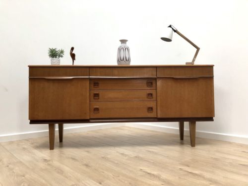 Superb Mid Century Vintage Teak Sideboard with Drawers By Lebus 1960's
