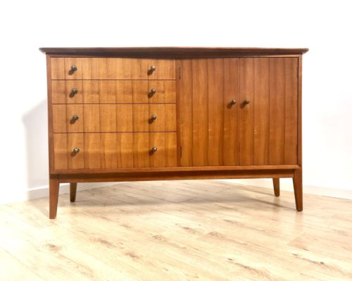 Superb Mid Century Vintage Zebrano Teak Sideboard Chest Of Drawers 1960's