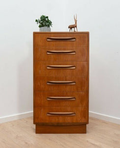 Mid Century Vintage Teak G Plan Fresco Tallboy Chest Of Drawers 1960's /871