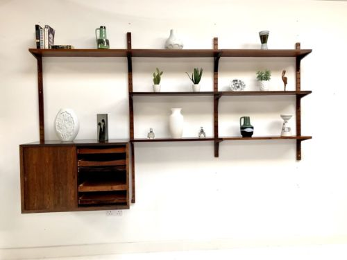 Mid Century Danish Rosewood Cado Wall Shelving Storage Unit Poul Cadovious Heals