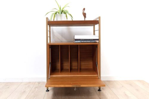 Mid Century Vintage Teak Staples Ladderax Shelving Vinyl Storage Unit /510