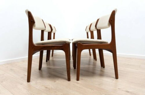 Set 6 Erik Buch Mid Century Vintage Danish Rosewood Dining Chairs Model 49 /938