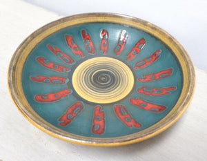 Mid Century Vintage West German Ceramic Pottery Plate Bowl /1516
