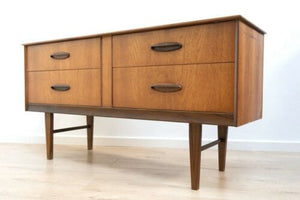 Stylish Mid Century Vintage Teak Retro 1960's Sideboard Console Drawers /1092