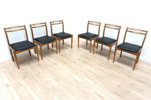 Midcentury Vintage Teak Dining Chairs Morris Of Glasgow Set of 6 1960's /1584