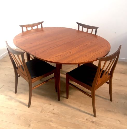 Mid Century Vintage Teak G Plan E Gomme Dining Table And 4 Brazilia Chairs