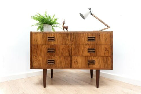 Mid Century Vintage Danish Horsens Mobler Rosewood Chest Of Drawers /1355