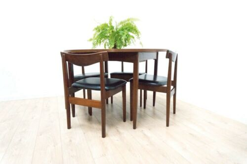 Mid Century Vintage Teak Extending Dining Table & 4 Dining Chairs 1960's /1120