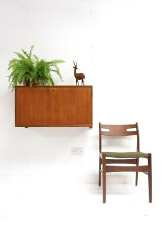 Mid Century Danish Vintage Teak Cado Royal System Floating Desk Bureau /990