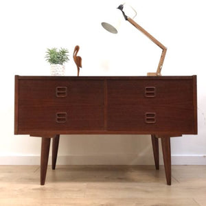 Mid Century Danish Teak Long And Low Sideboard TV Media Unit Drawers