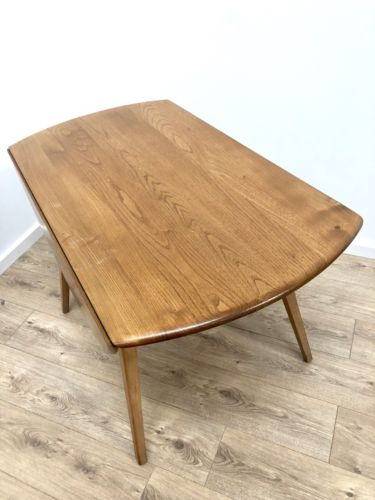 Mid Century Ercol Blonde Elm Drop Leaf Dining Table