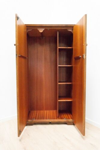 Midcentury Austinsuite Vintage Gents Wardrobe Decorative Teak Art Deco /1560