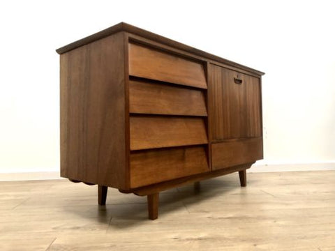 Mid Century Vintage Teak Small Sideboard Drawers Drinks Cupboard 1960's