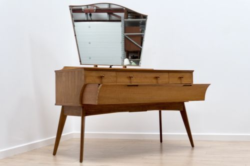 SUPERB MID CENTURY VINTAGE ALFRED COX FOR HEALS DRESSING TABLE / DESK