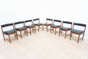 Set Of 8 Mid Century Vintage Teak A H McIntosh Dining Chairs 1960's /1131
