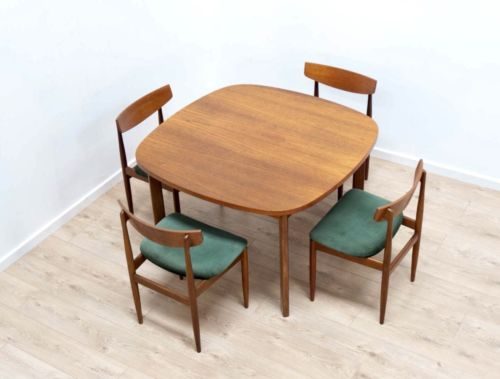 Mid Century Vintage Teak G Plan Ext Dining Table & 4 Kofod Larsen Chairs /472
