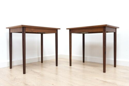 Mid Century Danish Vintage Rosewood Soberg Mobler Nightstands Side Tables /1348