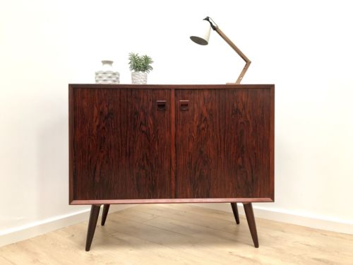 Superb Mid Century Danish Vintage Rosewood Sideboard Console Storage