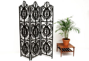 Mid Century Vintage Wicker Screen Room Divider Privacy Screen