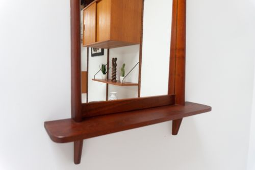 Superb Large Mid Century Danish Modernist Vintage Teak Mirror 1960's /101