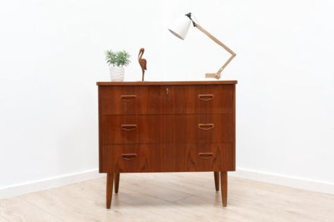 Stylish Mid Century Vintage Danish Teak Chest Of Drawers 1950's /461