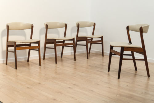 Mid Century Vintage Danish Rosewood Dining Chairs Set Of 4