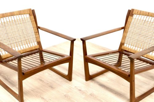 Danish Vintage Lounge Chairs By Hans Olsen Juul Kristensen Model 519 - 1 Of 2
