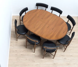 Mid Century Vintage Teak G Plan Dining Table Extending And 8 Kofod Larsen Chairs