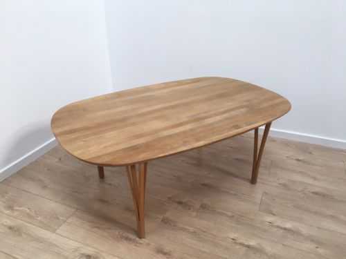 Danish Mid Century Vintage Blonde Coffee Table By Gangso Mobler
